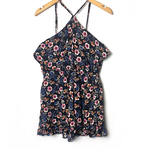 Weavers Pants - WEAVERS Floral Romper Shorts Ruffle Top & Bottom